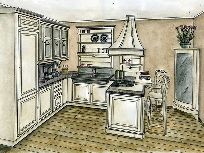 progettazione-cucina-country-vintage